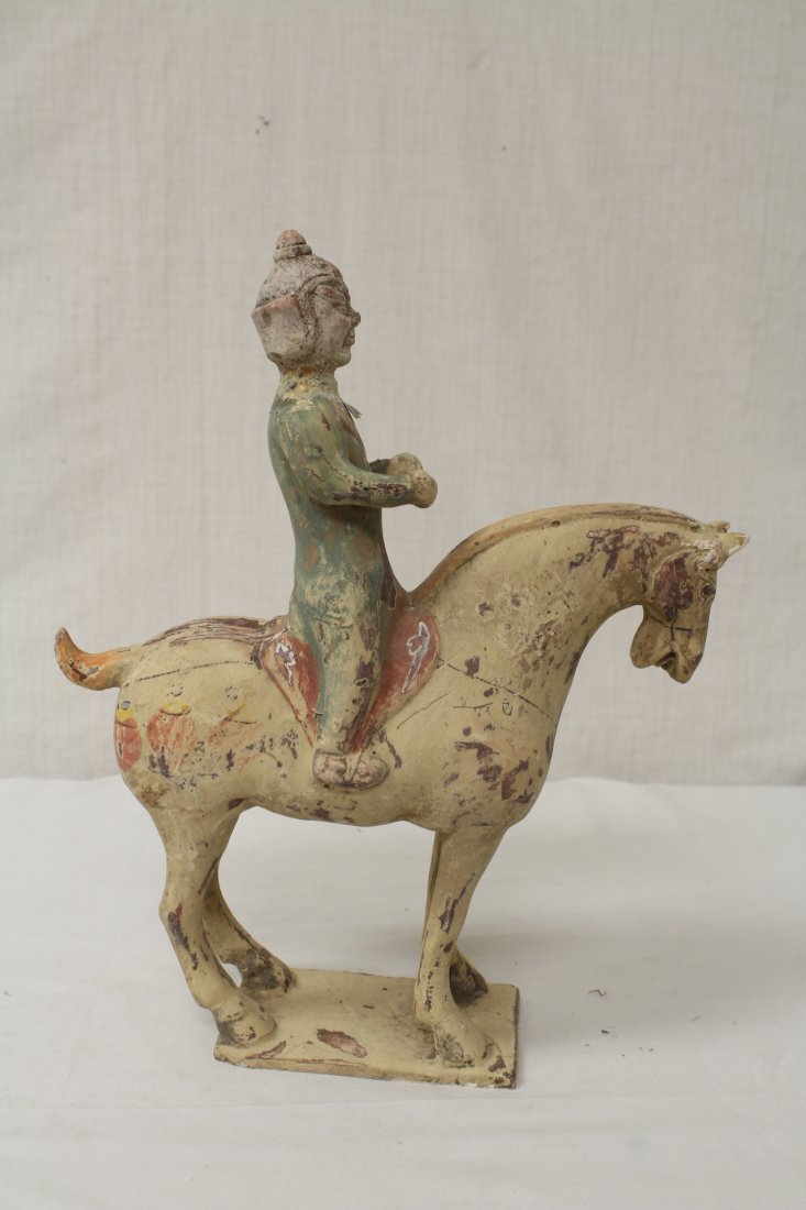 2 Tang style pottery figures - 6