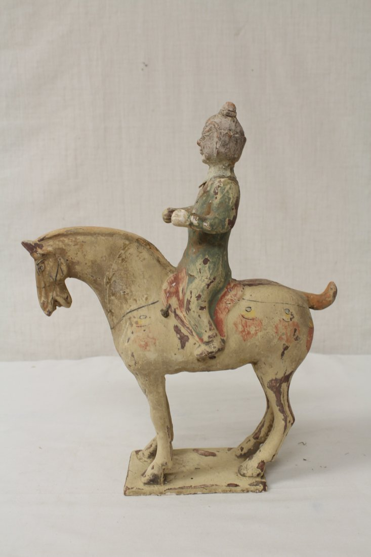 2 Tang style pottery figures - 7
