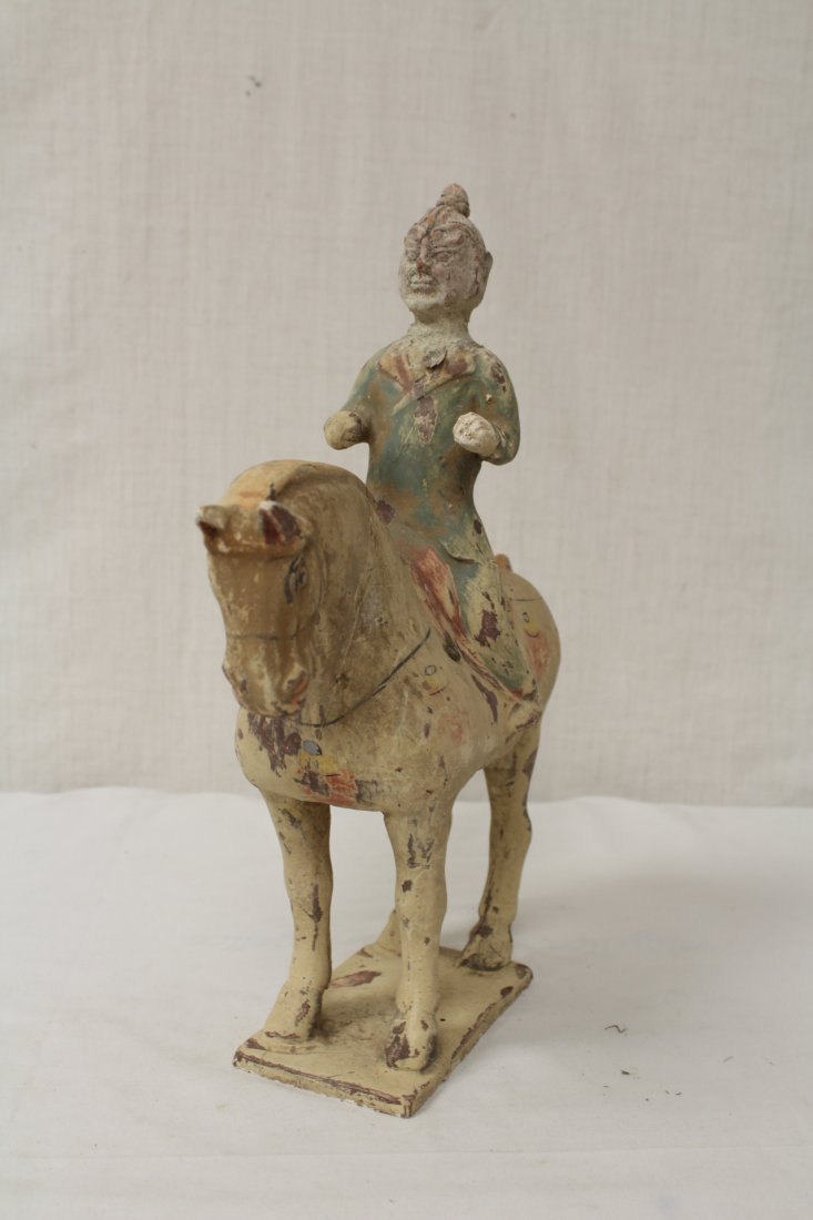 2 Tang style pottery figures - 8