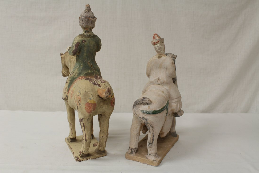 2 Tang style pottery figures - 9
