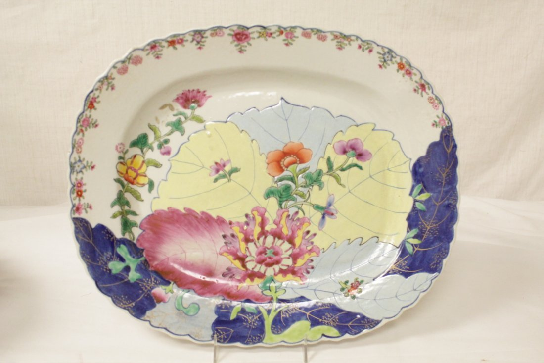 Chinese export style porcelain tureen w/ under plate - 8
