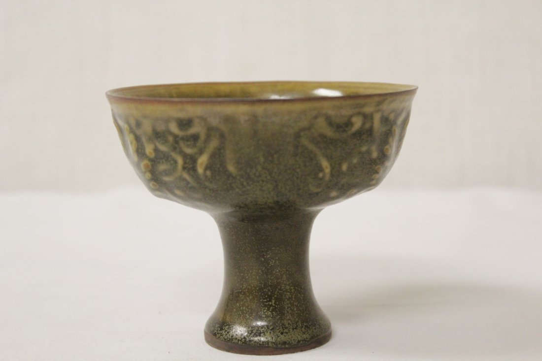 Chinese Song style stem bowl - 4