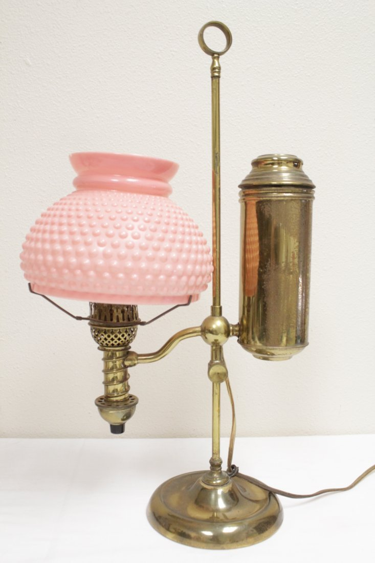 3 early 20th c. lamps And a Seiko dome clock - 2