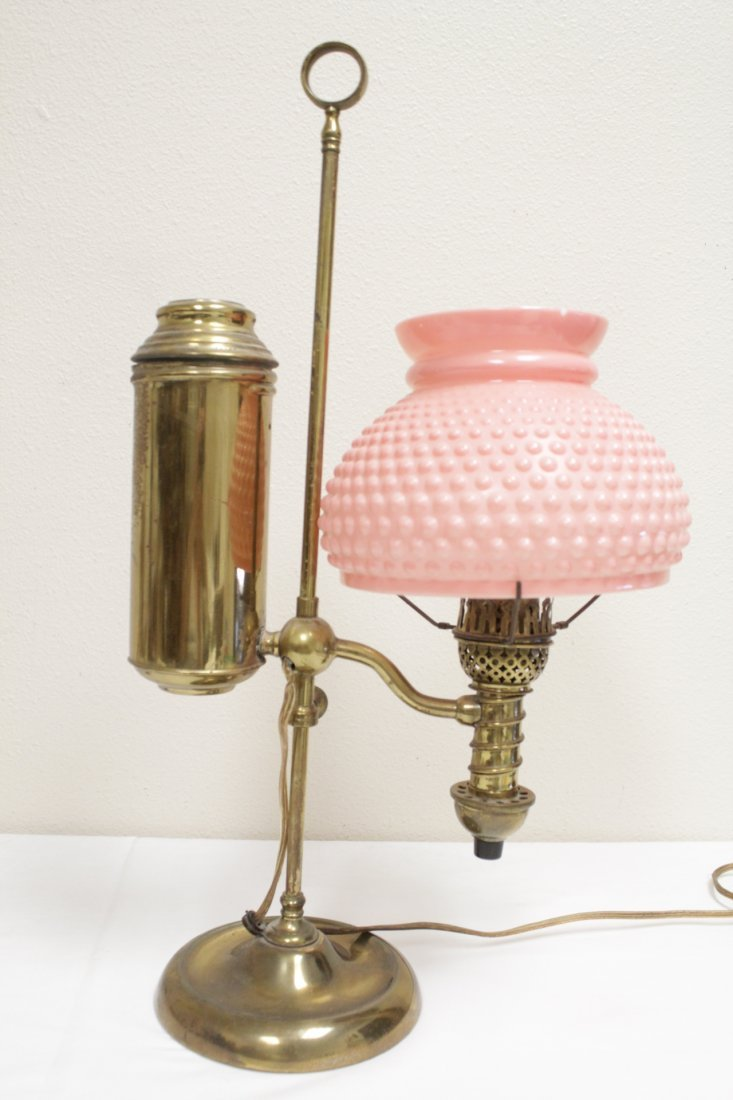 3 early 20th c. lamps And a Seiko dome clock - 3