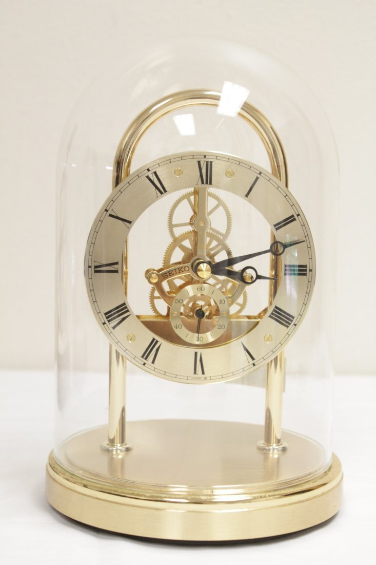 3 early 20th c. lamps And a Seiko dome clock - 5