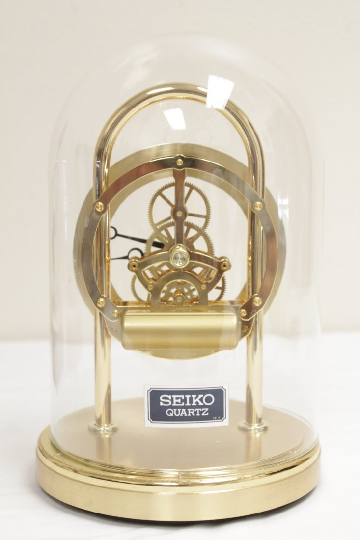 3 early 20th c. lamps And a Seiko dome clock - 6