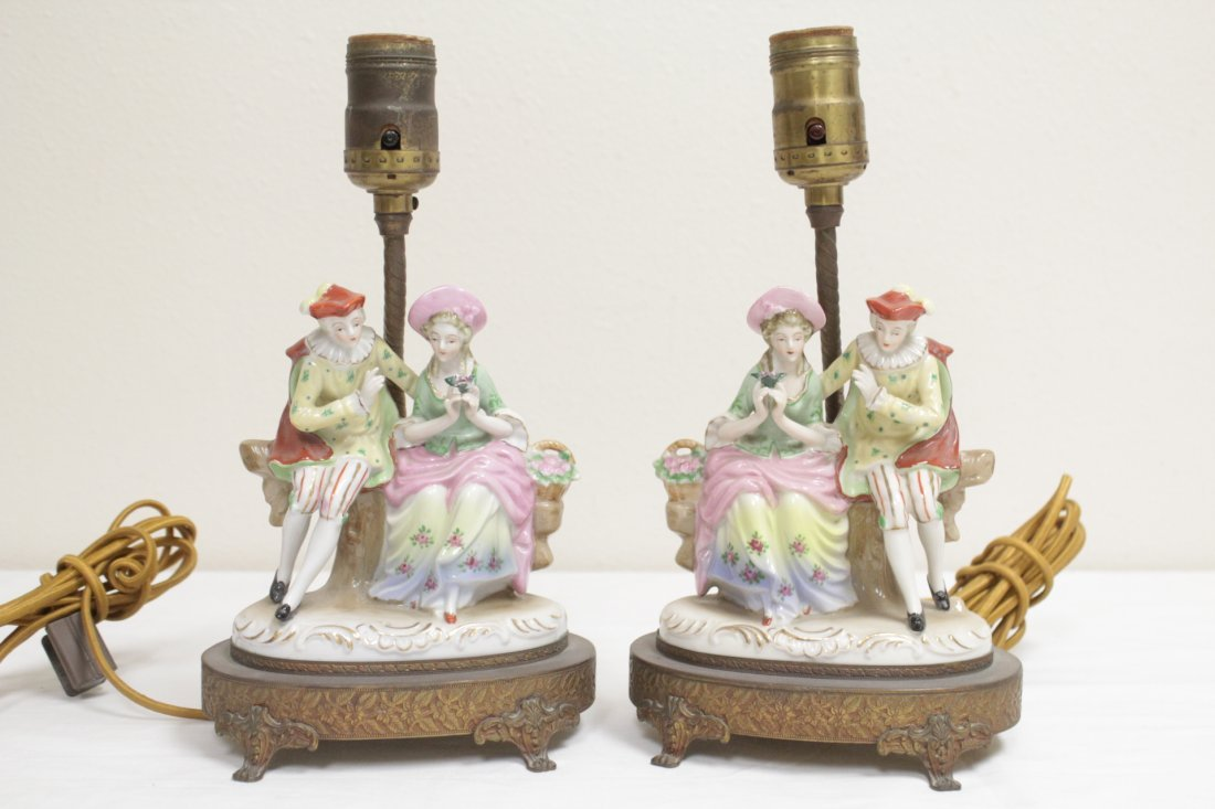 3 early 20th c. lamps And a Seiko dome clock - 7
