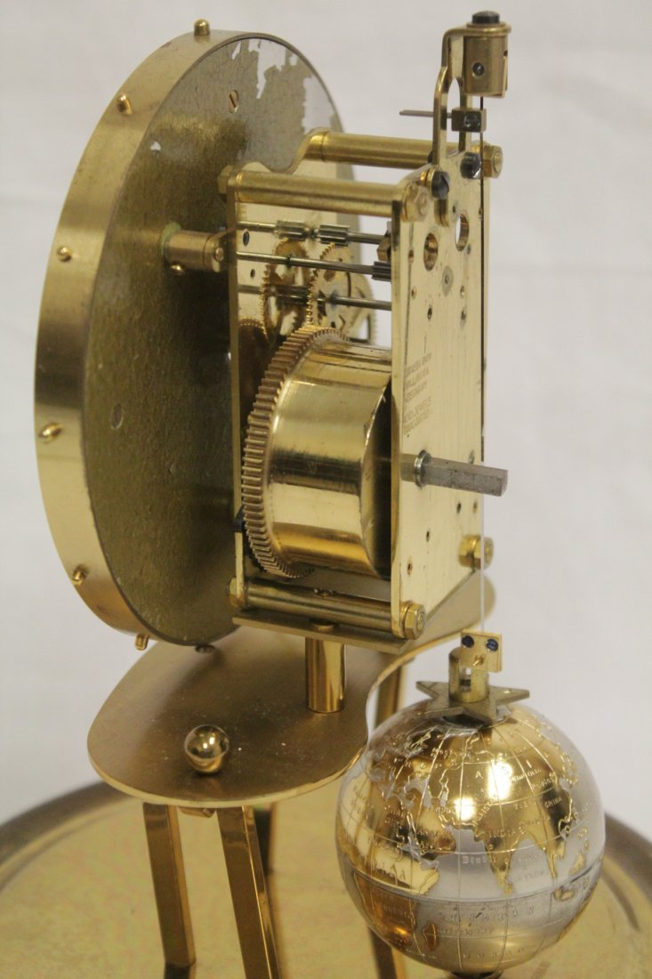 Unusual dome clock by Kaiser with globe - 10