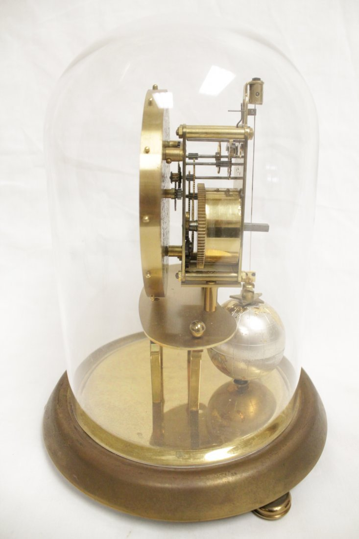 Unusual dome clock by Kaiser with globe - 2