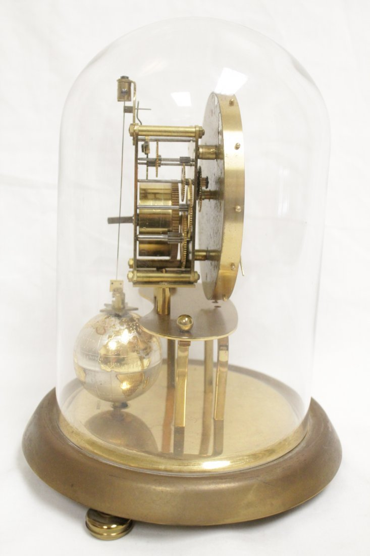 Unusual dome clock by Kaiser with globe - 4