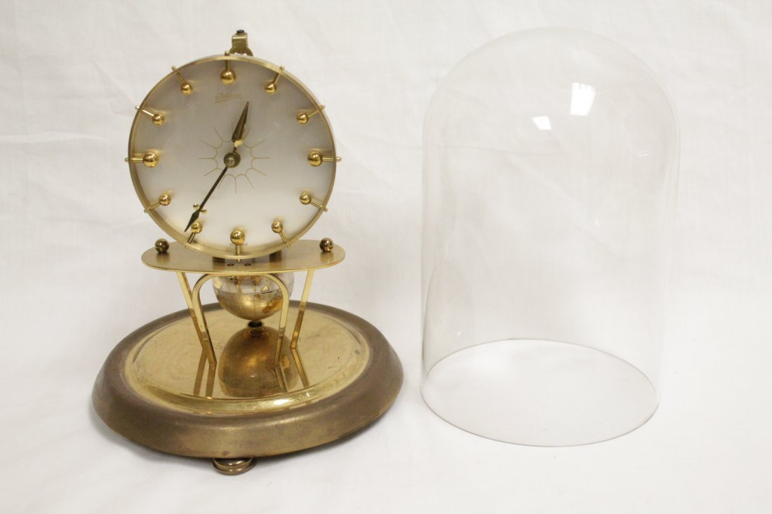 Unusual dome clock by Kaiser with globe - 5