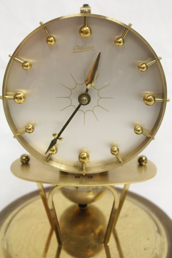 Unusual dome clock by Kaiser with globe - 6