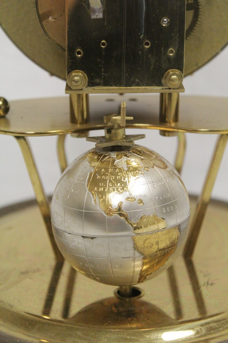 Unusual dome clock by Kaiser with globe - 8