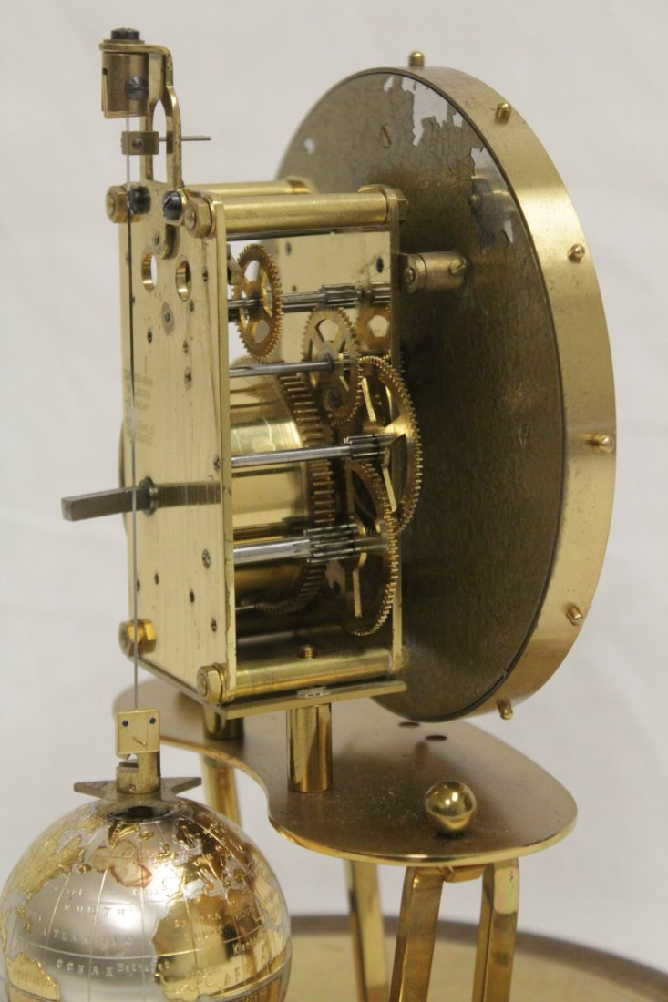 Unusual dome clock by Kaiser with globe - 9