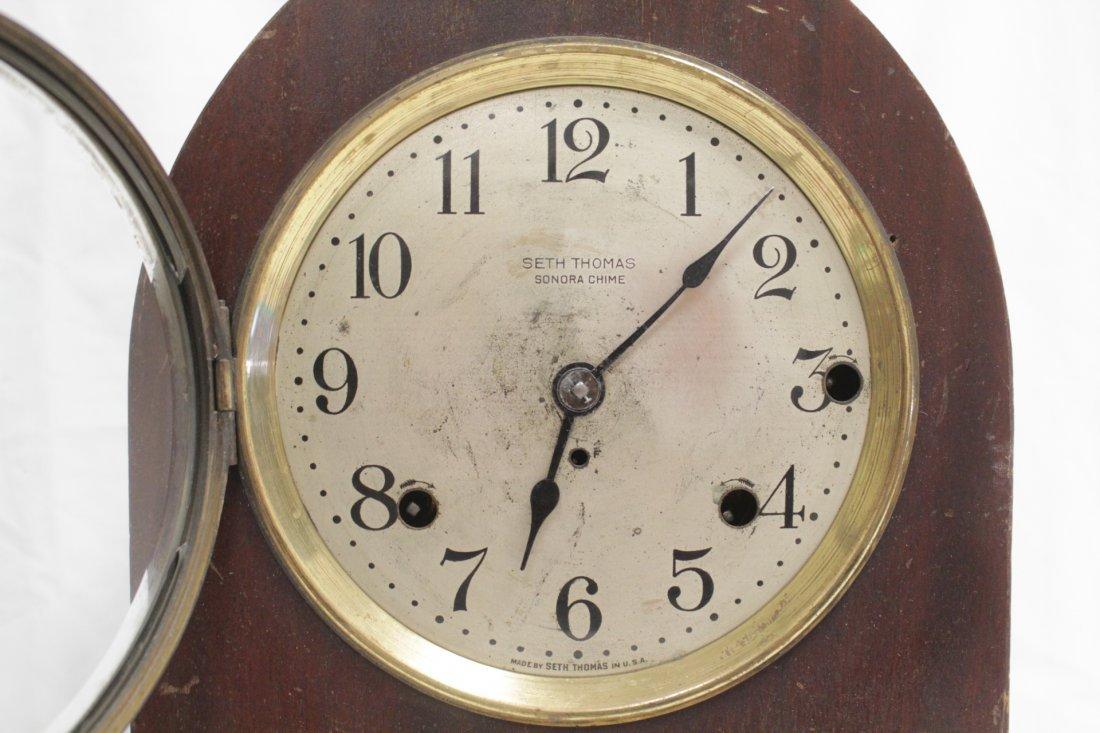 Rare wood case table clock by Seth Thomas - 2