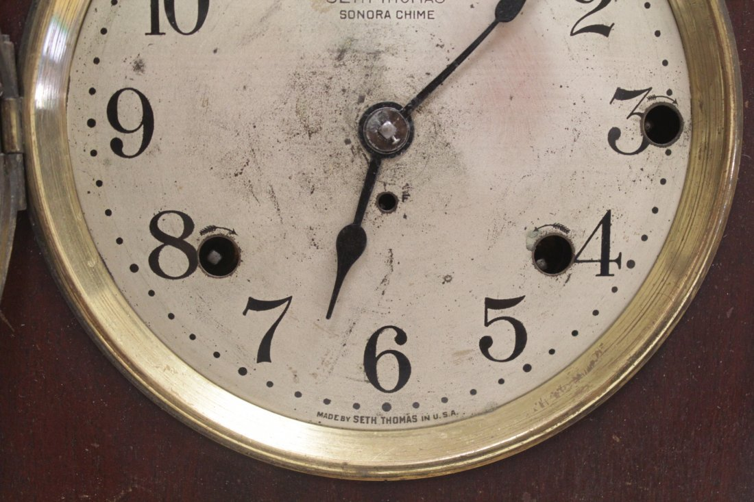 Rare wood case table clock by Seth Thomas - 4
