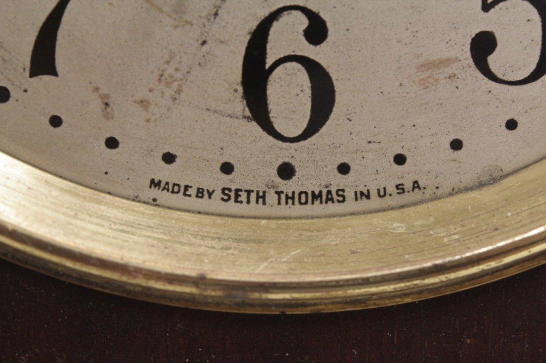 Rare wood case table clock by Seth Thomas - 5