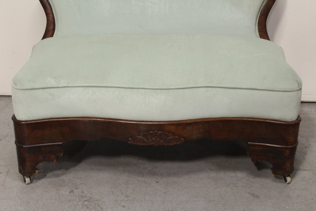 Period mahogany empire loveseat - 3