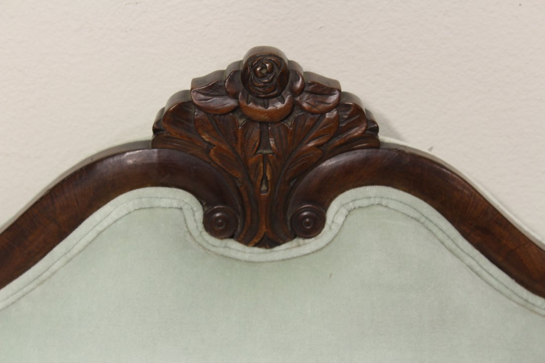 Period mahogany empire loveseat - 4