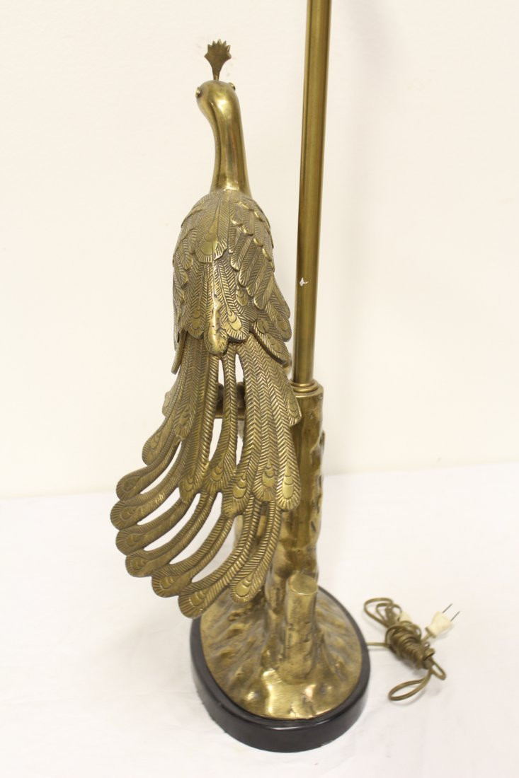 A very heavy bronze/brass table lamp by Marbro - 9