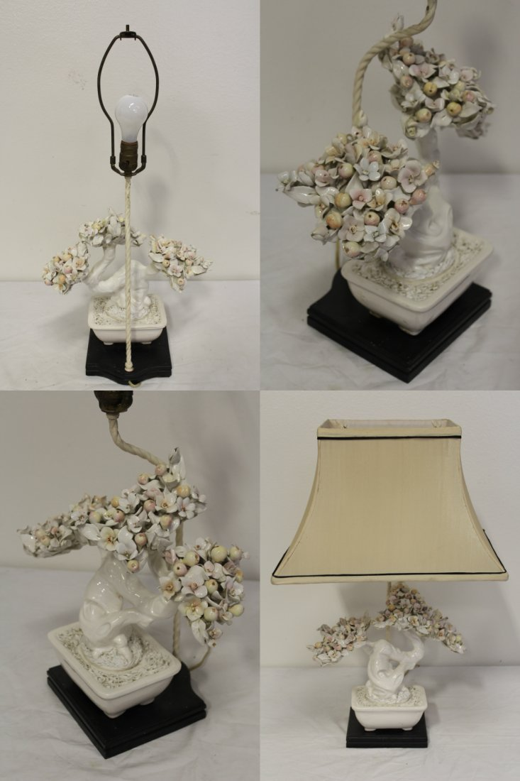A table lamp with white porcelain fruit tree - 3