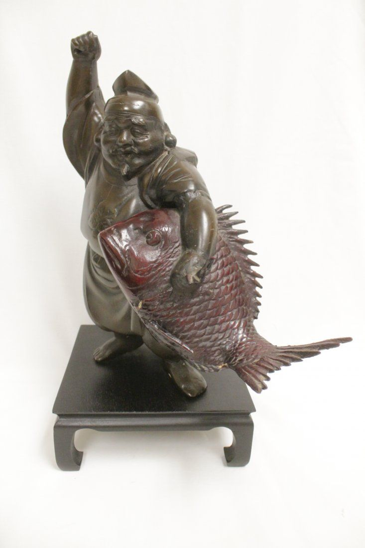 Japanese bronze sculpture