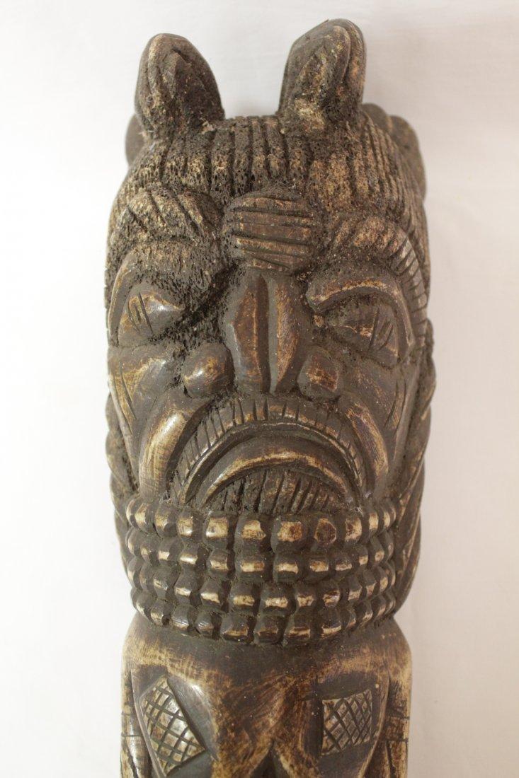 Pair rare bone carved Tiki, possible Hawaiian - 8
