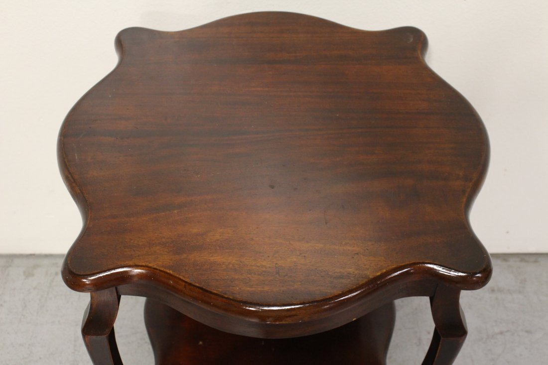 Mahogany parlor table, and a small console table - 5