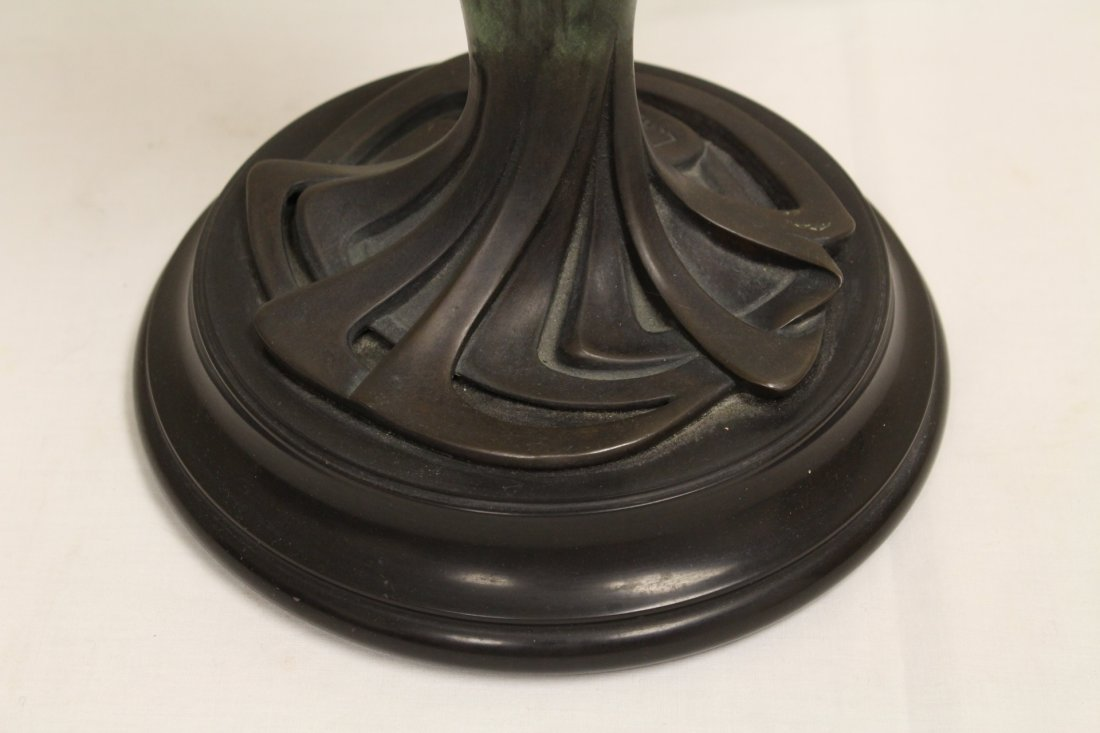 Bronze lamp with base in nude motif - 6