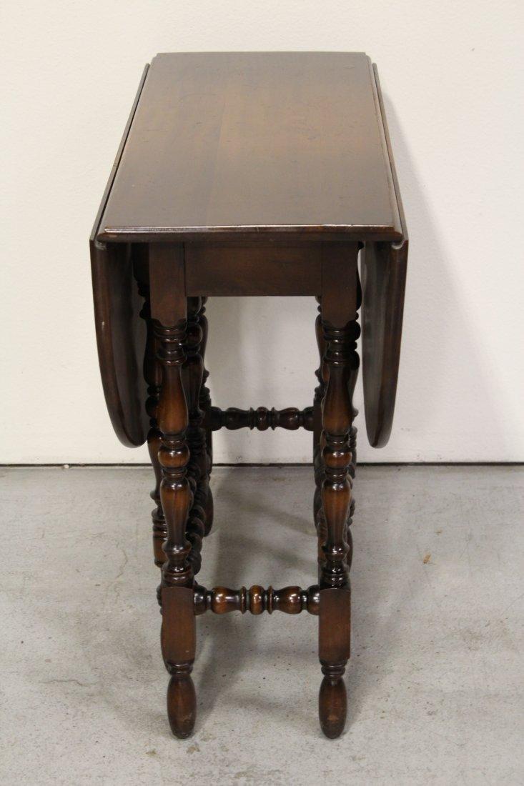 Victorian mahogany gated leg table - 2