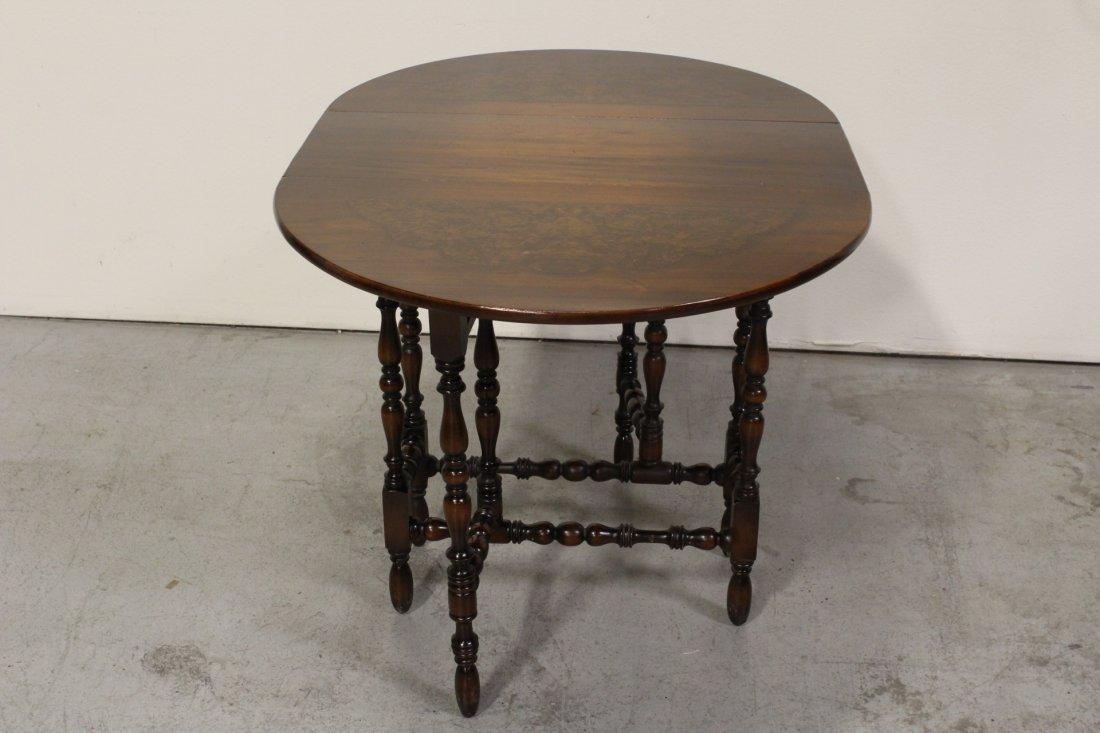 Victorian mahogany gated leg table - 3