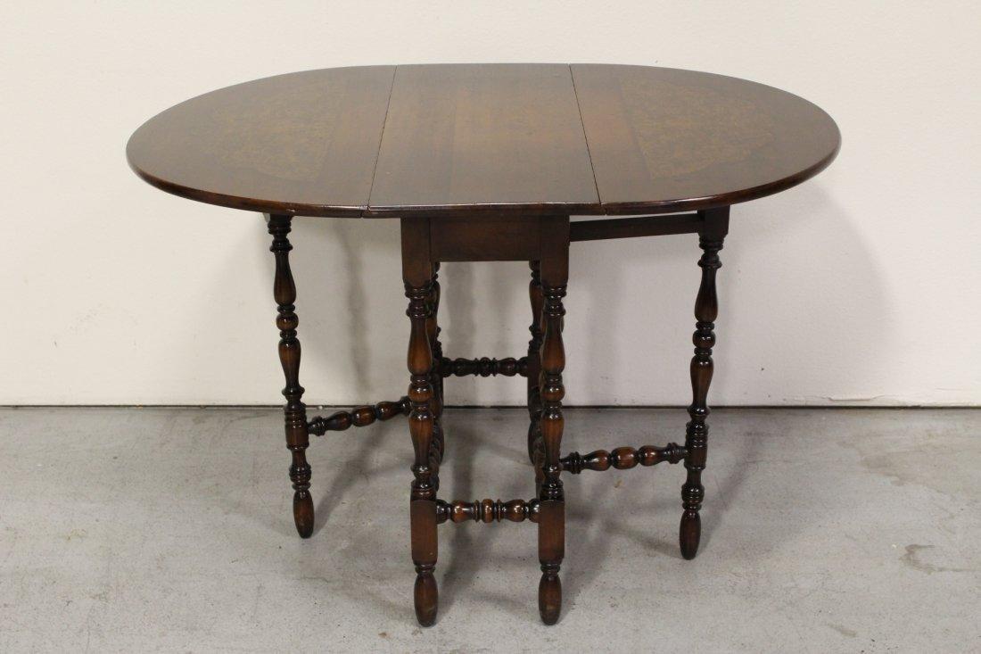 Victorian mahogany gated leg table - 4