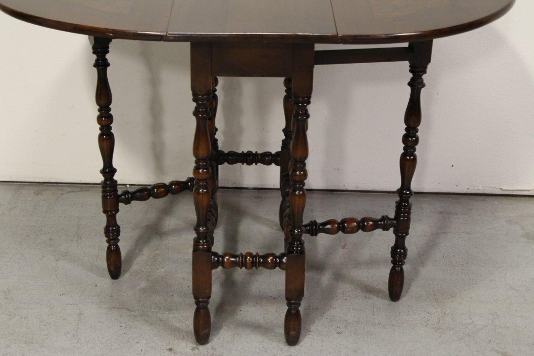 Victorian mahogany gated leg table - 5
