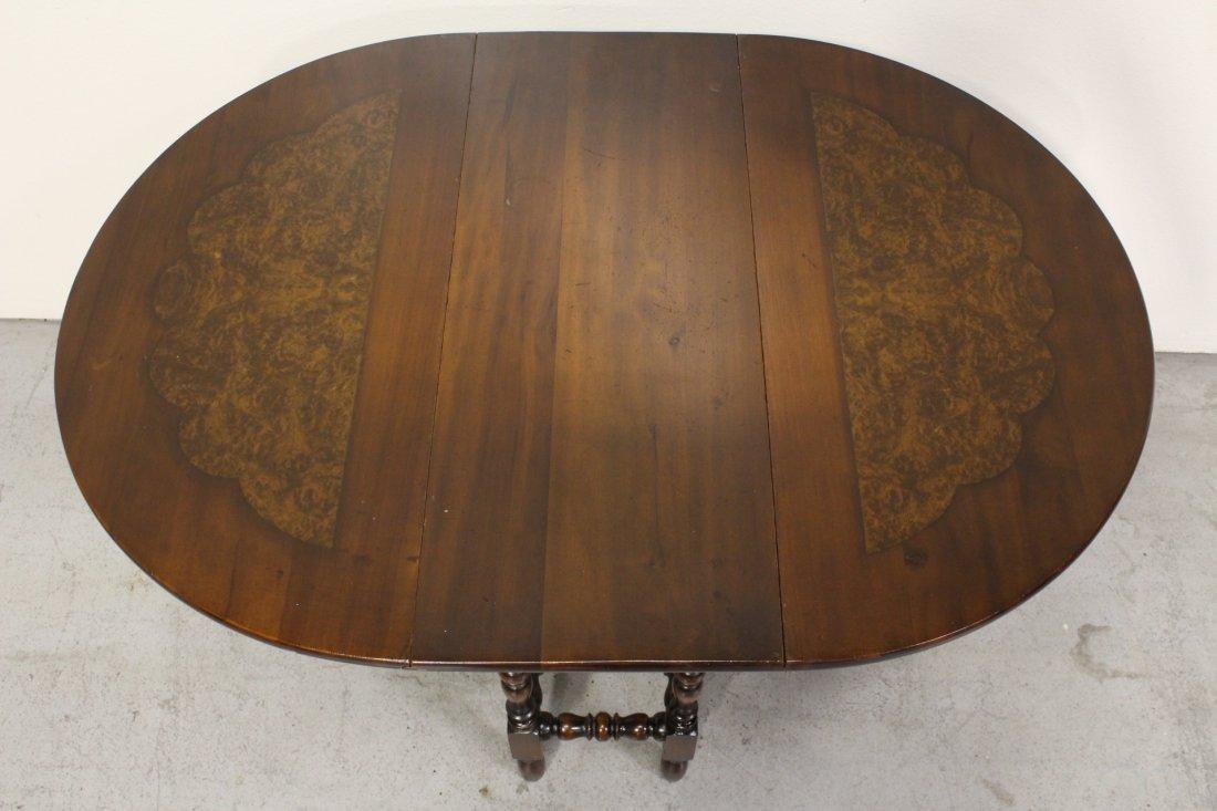 Victorian mahogany gated leg table - 6