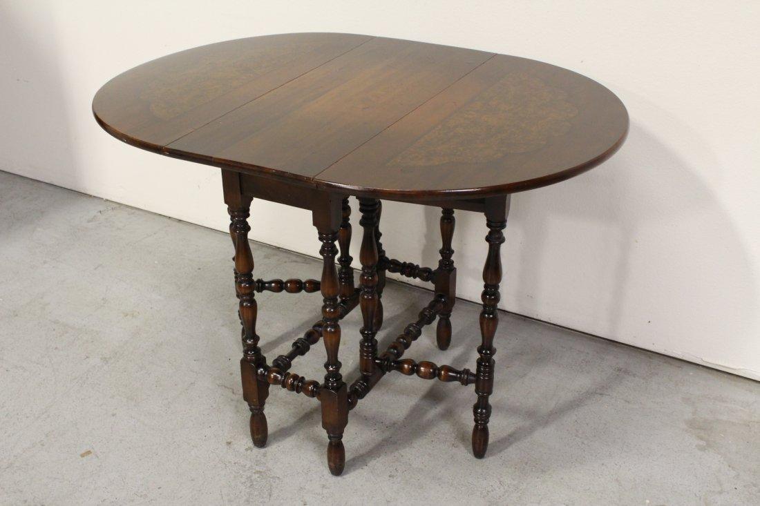Victorian mahogany gated leg table - 7
