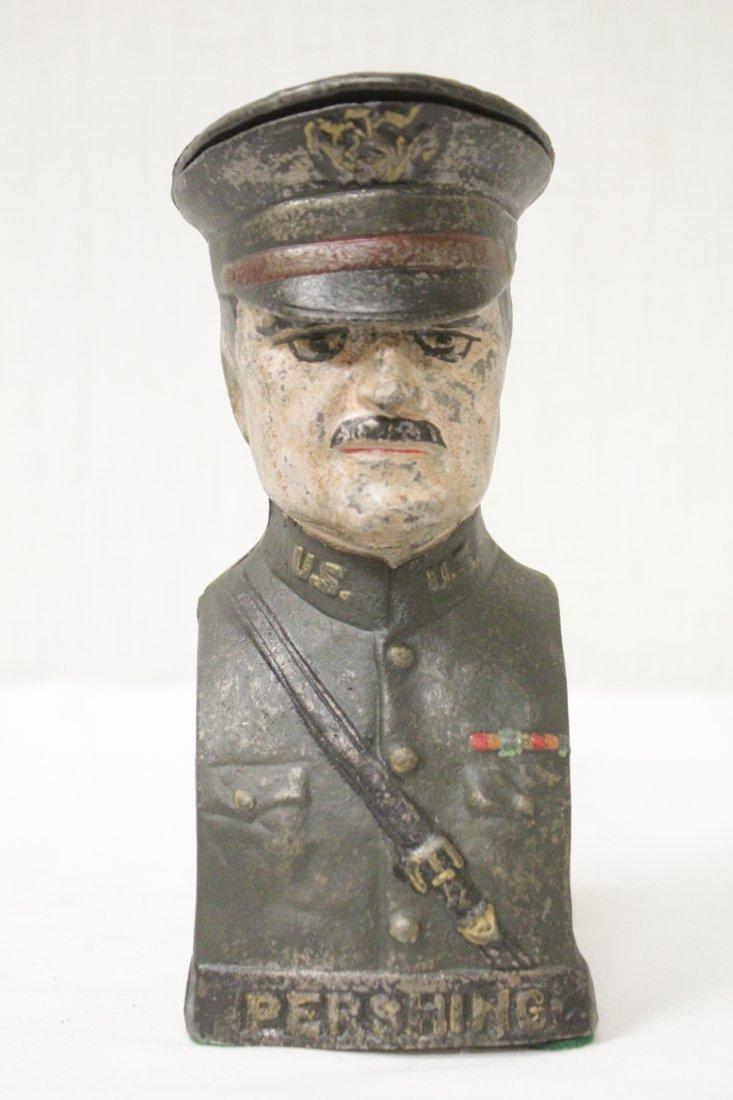 "Vintage cast iron bank ""Pershing"""