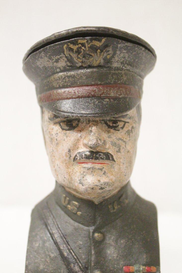 "Vintage cast iron bank ""Pershing"" - 6"