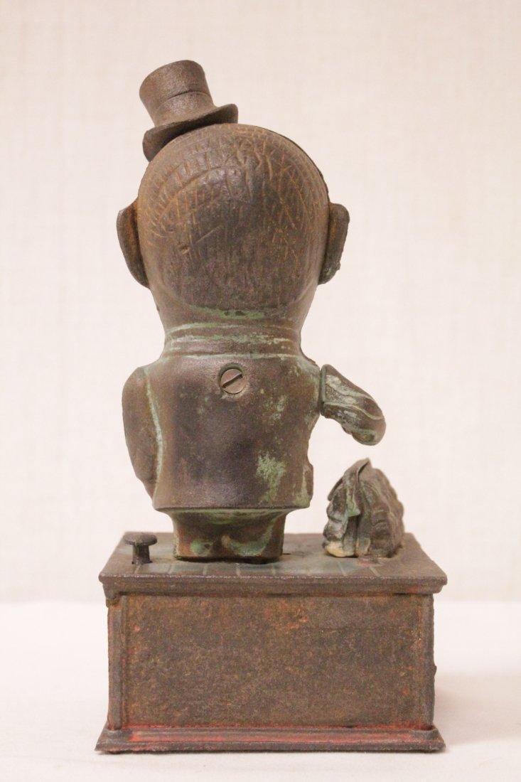 "Vintage cast iron bank ""stump speaker"" - 3"