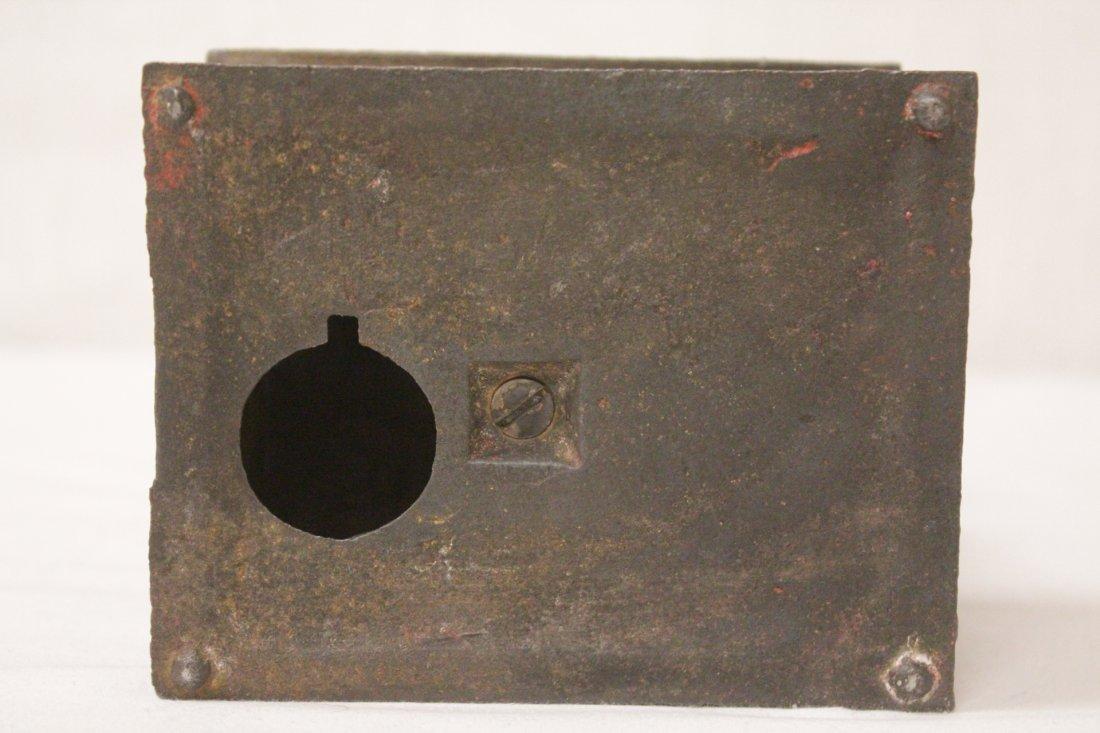 "Vintage cast iron bank ""stump speaker"" - 8"