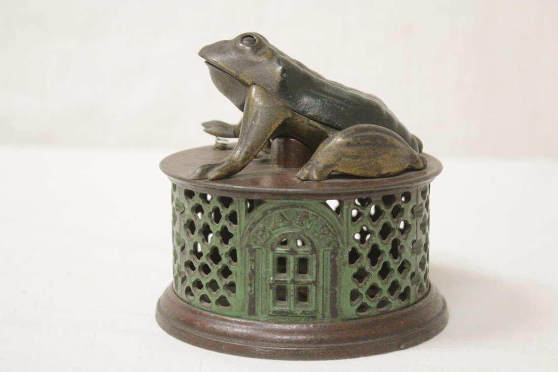 "Vintage cast iron bank ""frog bank"" - 3"