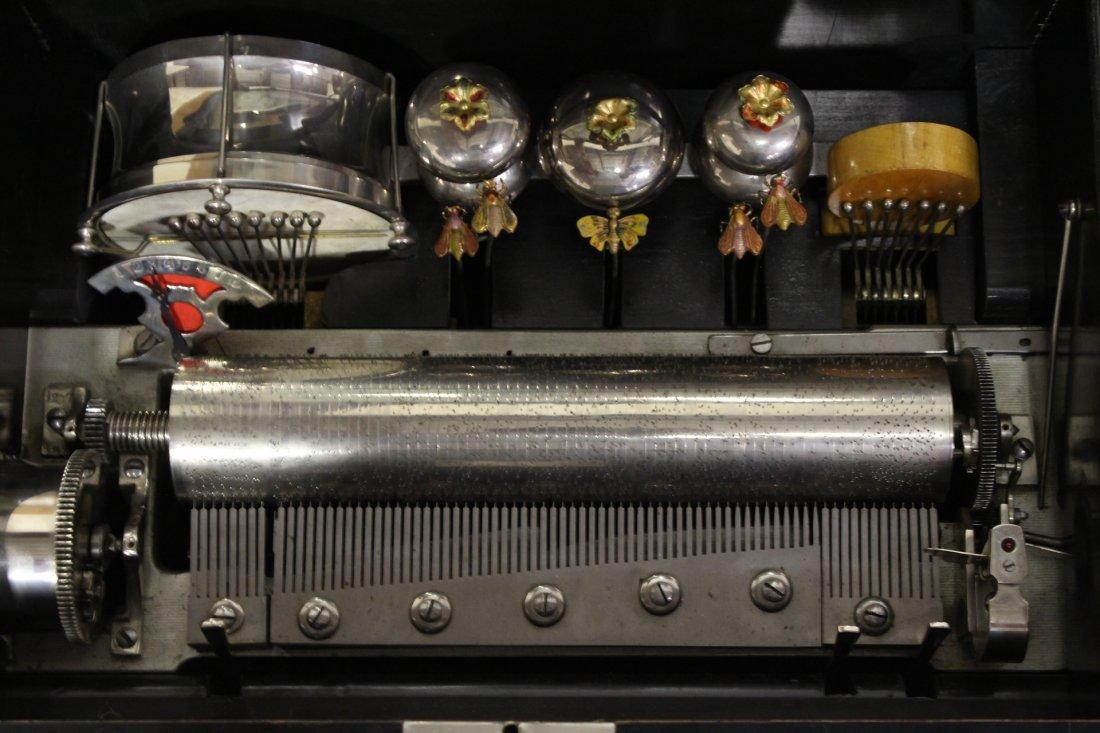 Victorian Swiss made mechanical music box - 6