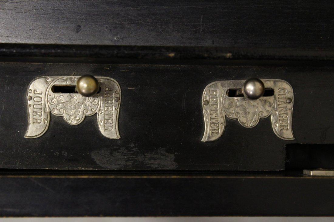 Victorian Swiss made mechanical music box - 7