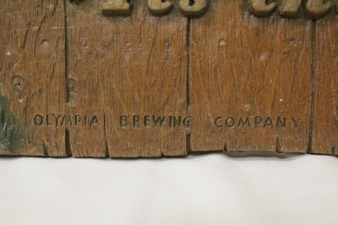 Vintage Olympic beer advertising plaque - 8