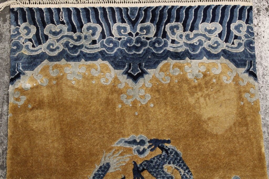 Chinese silk Peking rug - 5