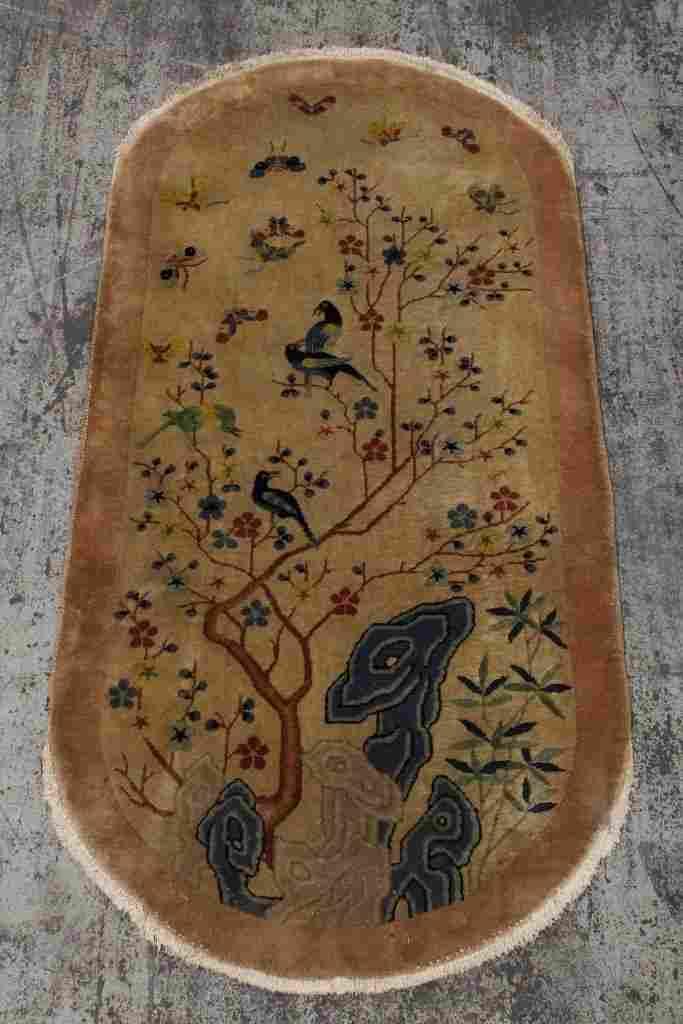 Chinese antique Peking rug