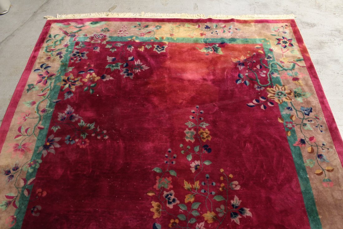 Large Chinese early 20th century Nichols rug - 3