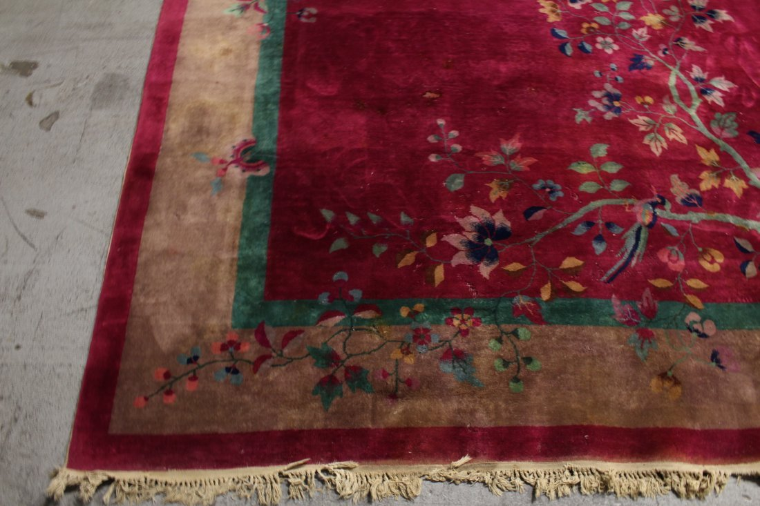 Large Chinese early 20th century Nichols rug - 5