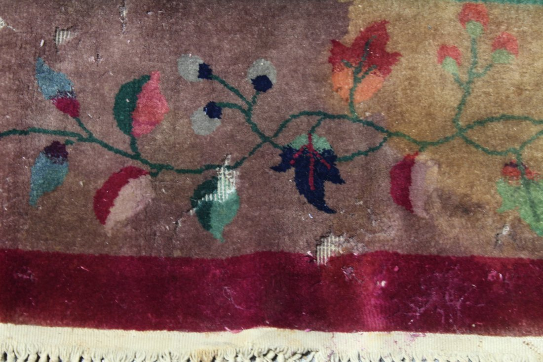 Large Chinese early 20th century Nichols rug - 9