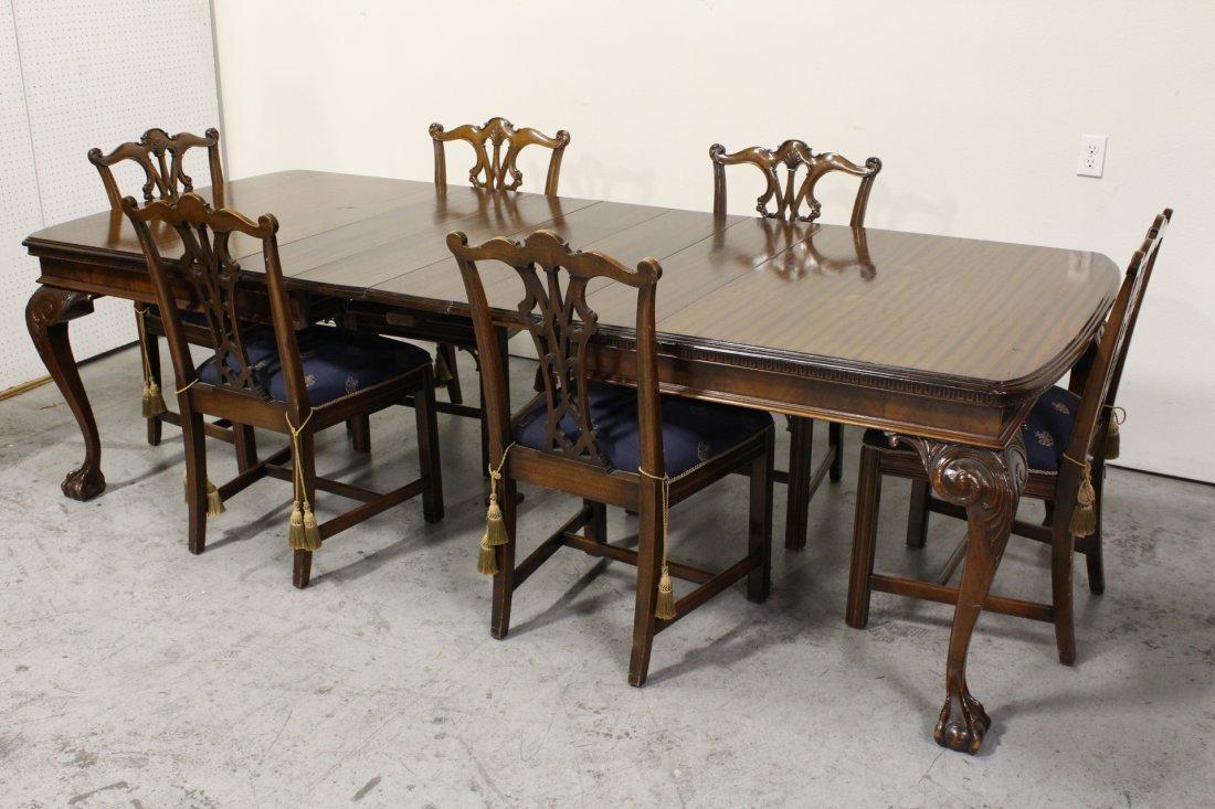mahogany dining room set