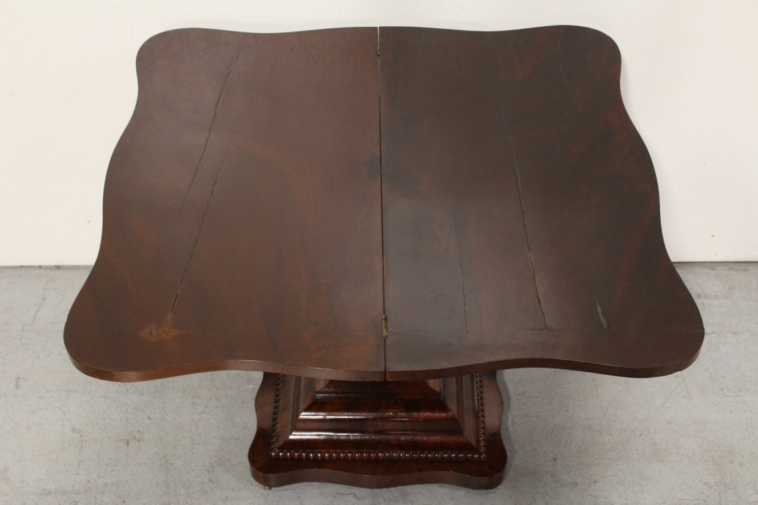 A flame mahogany period empire game table - 4